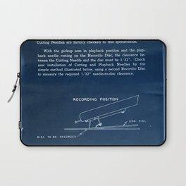 Vintage Lathe Cutter Manual - Inverted Laptop Sleeve