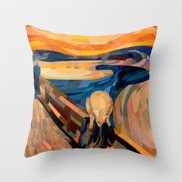 Curves - O Grito Throw Pillow