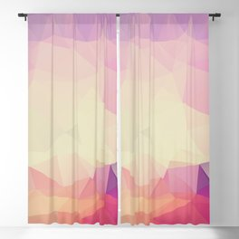 Shining Abstract Polygon Pattern Yellow, Purple, Pink, and Orange Blackout Curtain