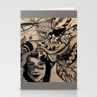 headdress Stationery Cards featuring Headdress by creative kids