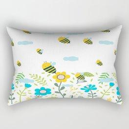 Bee Flaying Rectangular Pillow