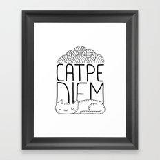 CATPE DIEM Framed Art Print