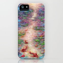 Lilies at Dusk Acrylic Painting iPhone Case
