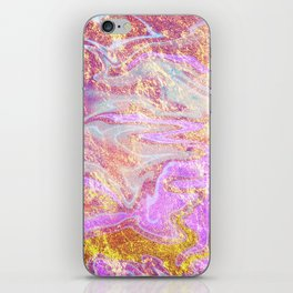 Vibrant Glitter Marble iPhone Skin