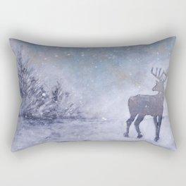 Winter Stag Rectangular Pillow