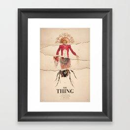 The Thing Alternative Film Poster Framed Art Print