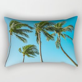 Coconut Palm Trees Rectangular Pillow