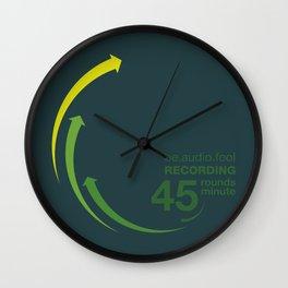 45rpm be.audio.fool Wall Clock
