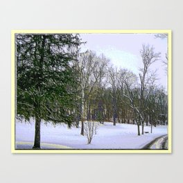 Winter Scape in Purplish Hues Canvas Print