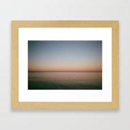 Song Bird Sun Set Framed Art Print