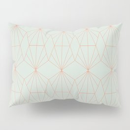 Geometry art decó in blue and orange Pillow Sham