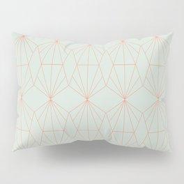 Geometry art decó in blue and orange Pillow Sham
