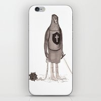 knight iPhone & iPod Skins featuring Knight  by The Hungry Fox