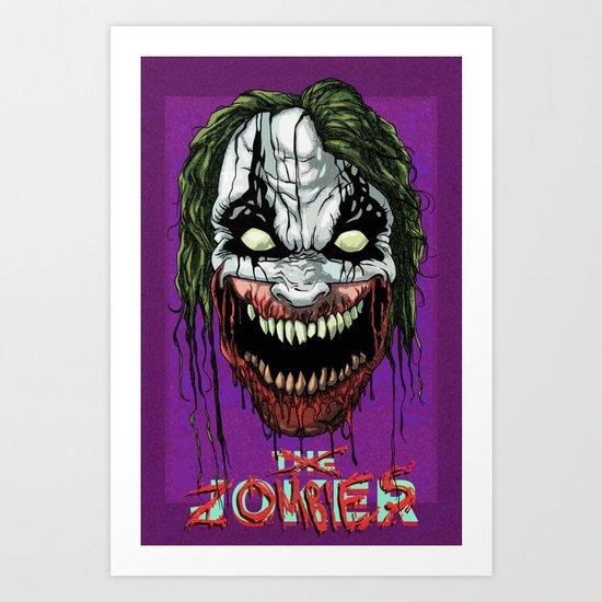 Joker Zombie Art Print