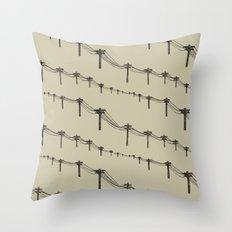 Metal Trees Throw Pillow