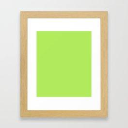 Inchworm - solid color Framed Art Print