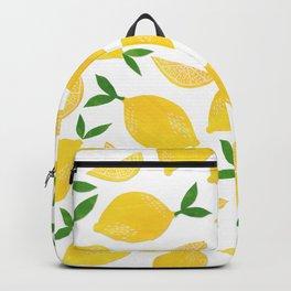 Lemon Cut Out Pattern Backpack