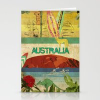 australia Stationery Cards featuring Australia by LilianaPerez
