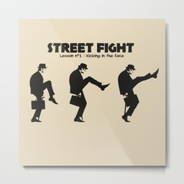 Street Fight Metal Print