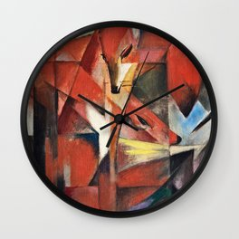 Franz Marc - The Foxes . Wall Clock