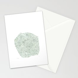 Milan Italy watercolor map Stationery Cards