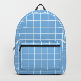 Aero - heavenly color - White Lines Grid Pattern Backpack