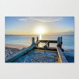 Lonely Dock-Providenciales, Turks & Caicos Canvas Print