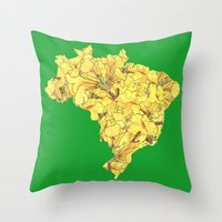 brazil Throw Pillows featuring Brazil by Ursula Rodgers