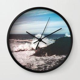 Waves Crash Wall Clock