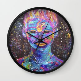 body paint Wall Clock