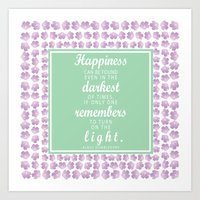 dumbledore Art Prints featuring Dumbledore Quote by KellieLynnCreations