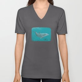 """Shallow Reef"" by Amber Marine ~ Dolphin Art ~ Acrylic Painting, (Copyright 2014) Unisex V-Neck"