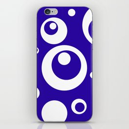Circles Dots Bubbles :: Blueberry iPhone Skin