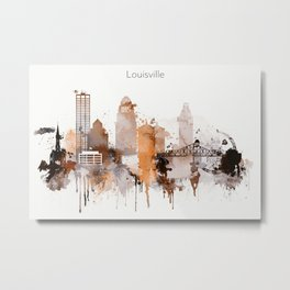 Vintage Louisville skyline design Metal Print