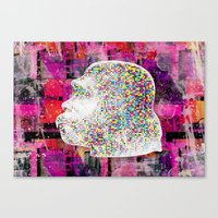 ape Canvas Prints featuring Ape by jnk2007