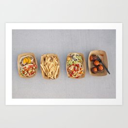 Food Organized Neatly Art Print