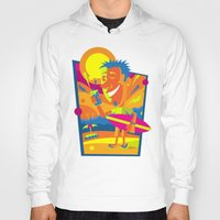 surfer Hoodies featuring Surfer by Roberlan Borges