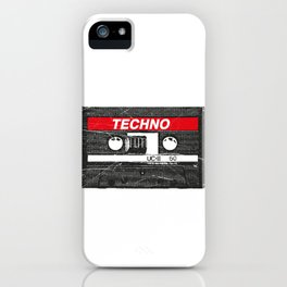 Techno Rave Drugs MDMA Molly Cocaine Party Festival Vintage design iPhone Case