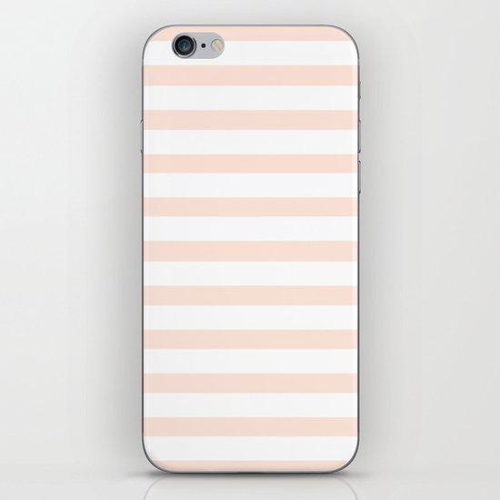 PEACH STRIPES iPhone & iPod Skin