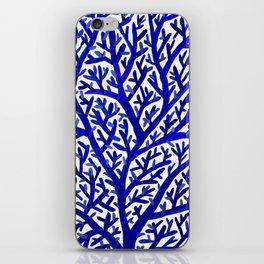 Fan Coral – Navy iPhone Skin