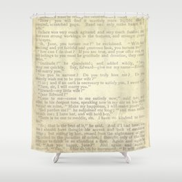 Jane Eyre, Mr. Rochester Proposal by Charlotte Bronte Shower Curtain