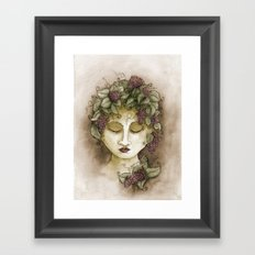 Vineyard Nymph Framed Art Print