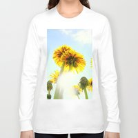 dandelion Long Sleeve T-shirts featuring Dandelion by Falko Follert Art-FF77