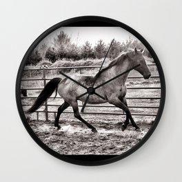 Miss Pepper the Rocky Mountain Horse  Wall Clock