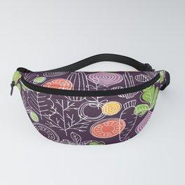 Vegetable Pattern Scandinavian Design Fanny Pack