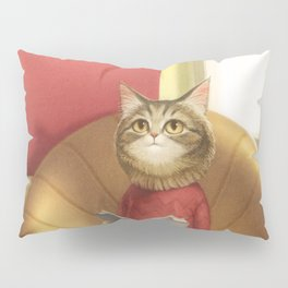 A cat reading a book Pillow Sham
