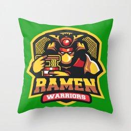 Team Ramen Warriors Throw Pillow