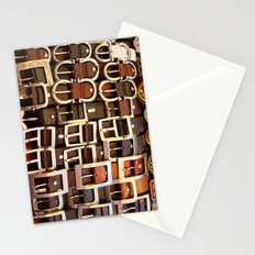 Italian leather belts, Florence market Stationery Cards