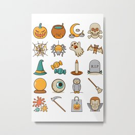 Halloween Icons Metal Print