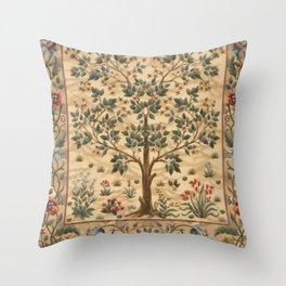 WILLIAM MORRIS - TREE OF LIFE Throw Pillow